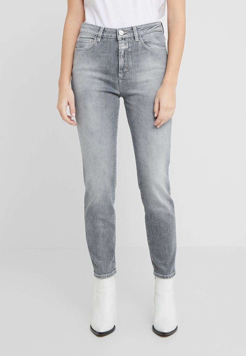 CLOSED - BAKER HIGH  HIGH WAIST CROPPED LENGTH - Slim fit jeans - mid grey