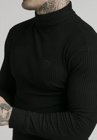 SIKSILK - LONG SLEEVE BRUSHED TURTLE NECK - Maglione - black - 4