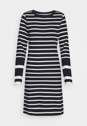 DETAIL STRIPE DRESS - Žerzejové šaty - evening blue