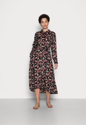 WITHER DRESS - Sukienka koszulowa - black/taupe
