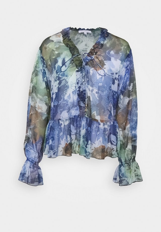 PRINT BLOUSE GOOD PRICE - Bluzka - blu/green