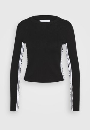 STRIPE LOGO - Jumper - black