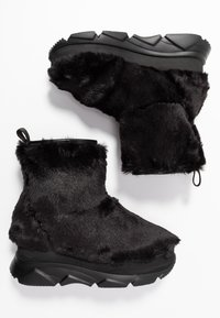 Joshua Sanders - FURRY BOOT DONNA - Wedge Ankle Boots - black - 3
