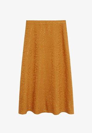MALTA - Áčková sukně - senfgelb