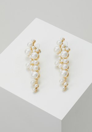 LENA LONG PEARL EAR  - Pendientes - gold-coloured/white