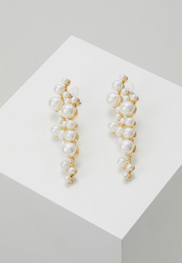 LENA LONG PEARL EAR  - Øreringe - gold-coloured/white