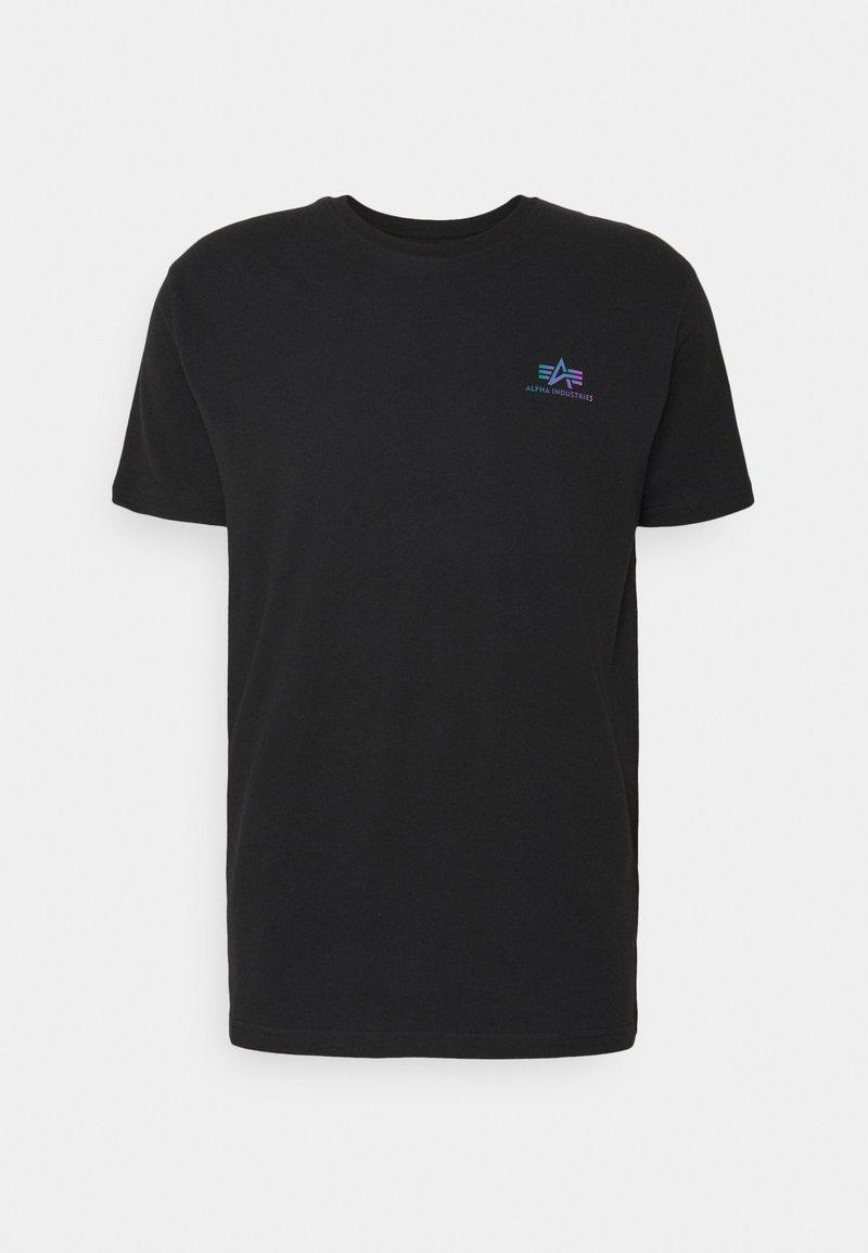 Alpha Industries - BASIC SMALL LOGO RAINBOW  - Print T-shirt - black