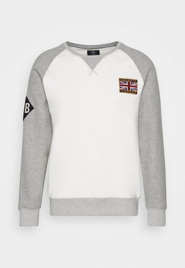CREW - Sweatshirt - grey/ecru