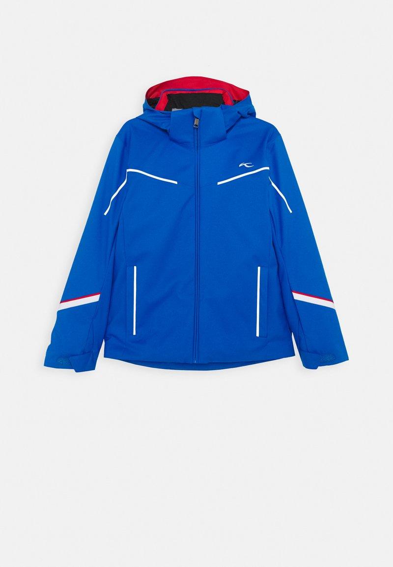 Kjus - BOYS FORMULA JACKET - Lyžařská bunda - aruba blue