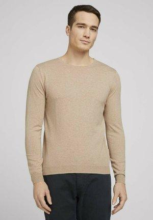 Sweatshirt - sahara dust beige melange