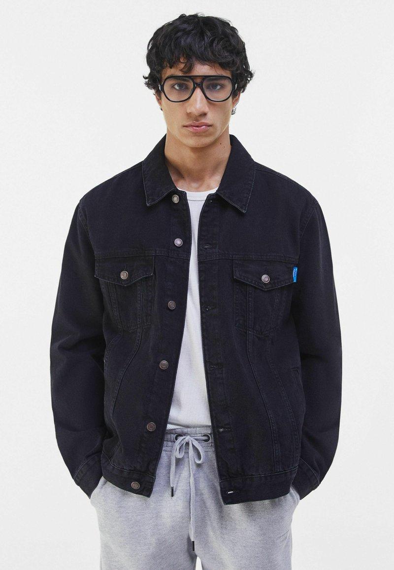 Bershka - Denim jacket - black