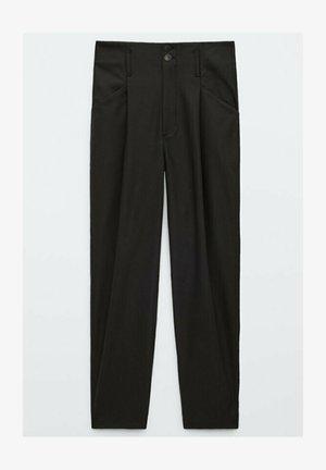 AUS FUNKTIONSSTOFF - Trousers - black