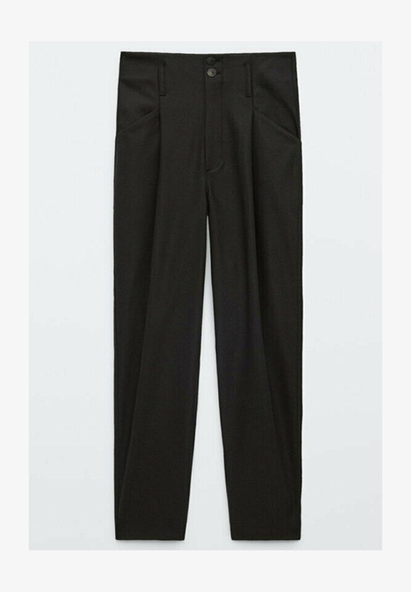 Massimo Dutti - AUS FUNKTIONSSTOFF - Pantalon classique - black