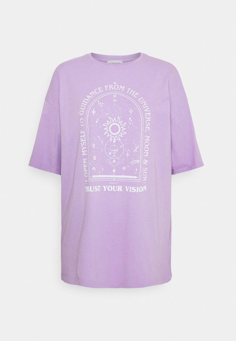 Even&Odd - T-shirt med print - lilac