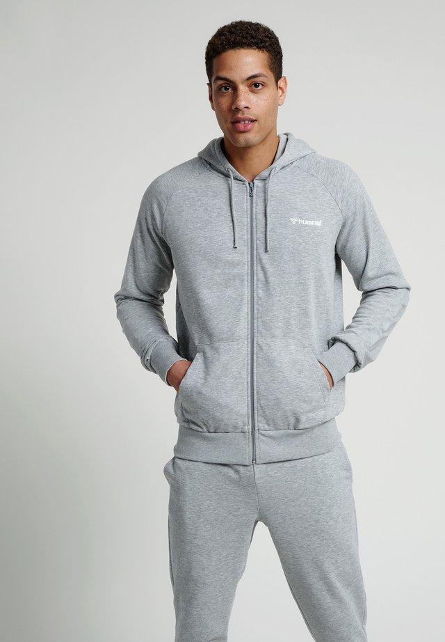 HMLISAM  - Zip-up hoodie - grey melange