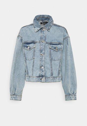 BALLOON SLEEVE WASHED JACKET - Denim jacket - blue