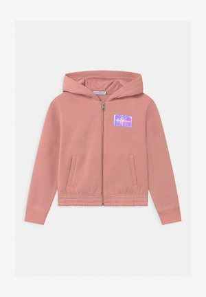 MONOGRAM BADGE ZIP THROUGH - Mikina na zip - pink