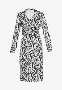 Diane von Furstenberg - Sukienka koktajlowa - tiger twigs small black - 5
