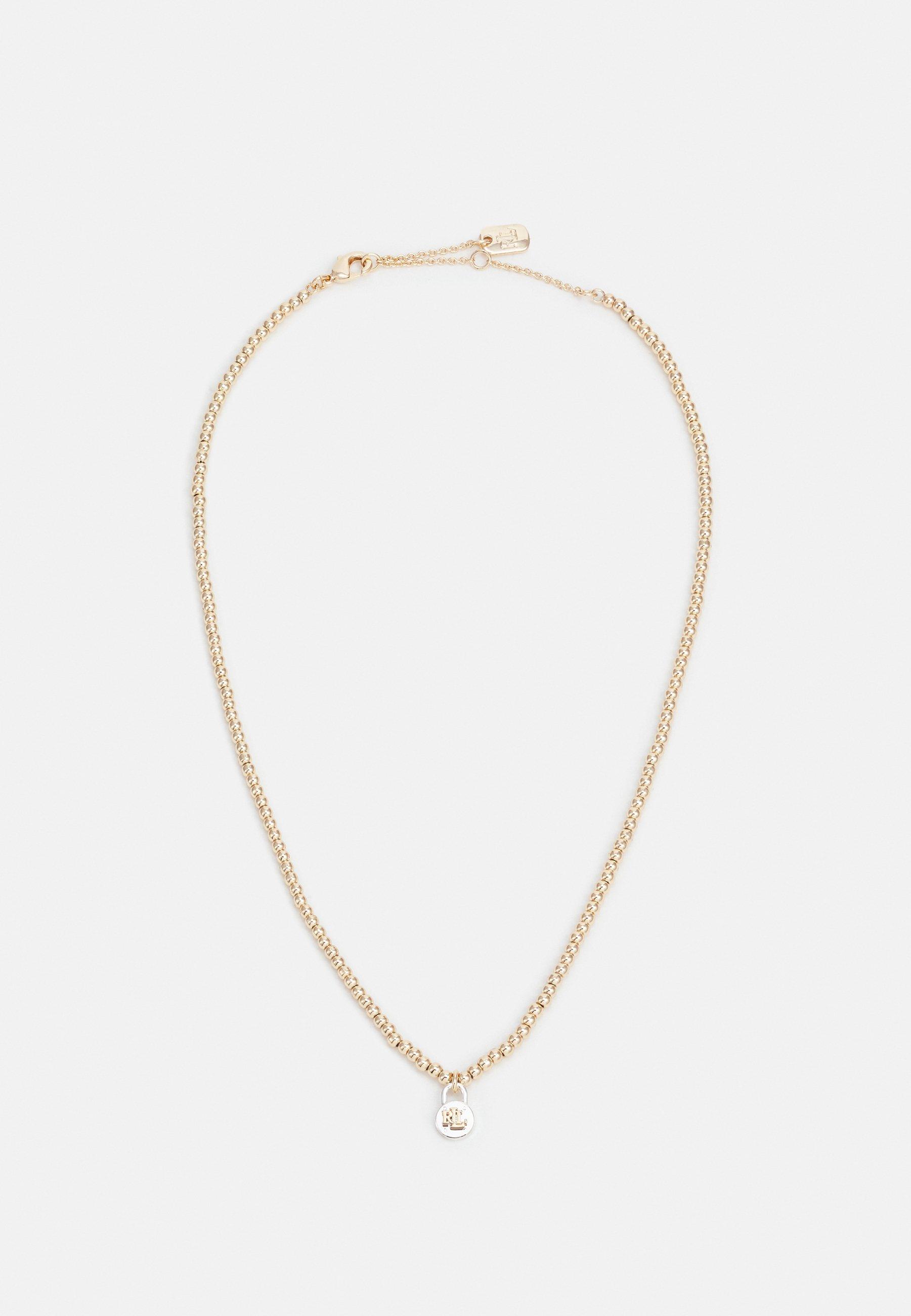 Women PADLOCK PENDANT TWO TONE - Necklace