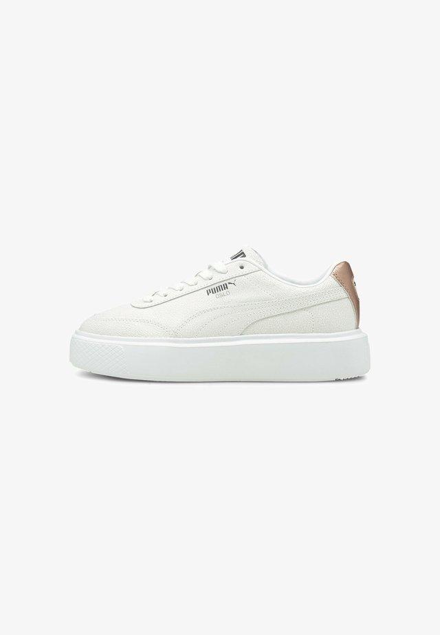 PUMA OSLO MAJA CRACKED  - Sneaker low - white-black-rose gold