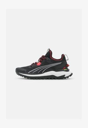 VOYAGE NITRO - Trail running shoes - black/sunblaze/metallic silver