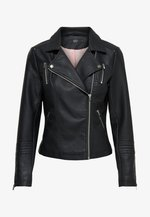 GEMMA BIKER - Faux leather jacket - black