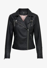 ONLY - ONLGEMMA BIKER - Faux leather jacket - black - 4
