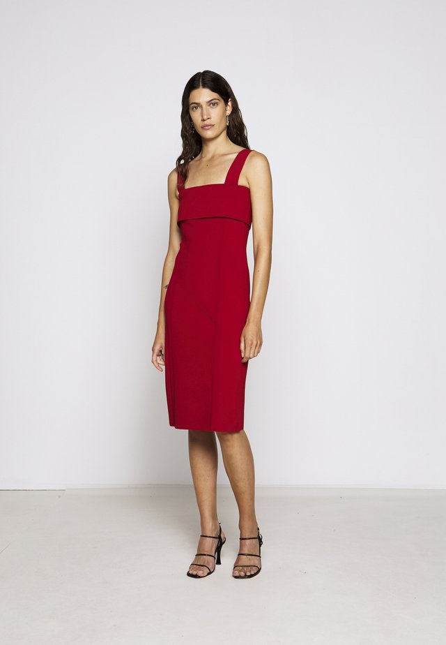 COMPACT TANK DRESS - Shift dress - scarlet