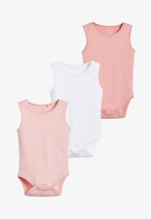 PINK 5 PACK GOTS ORGANIC COTTON VEST BODYSUITS (0MTHS-3YRS) - Body - pink