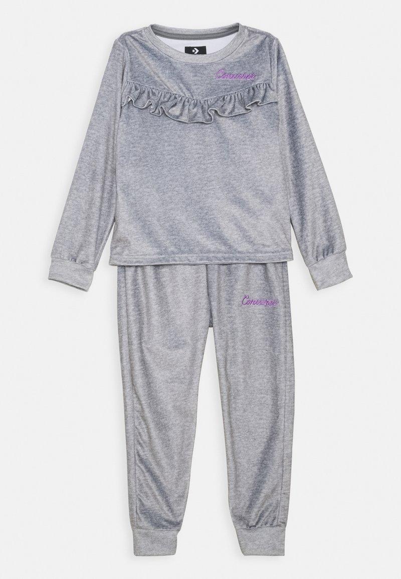Converse - SET - Pantalones deportivos - dark grey heather