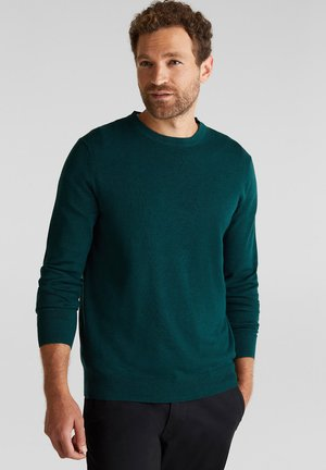 AUS 100% ORGANIC COTTON - Stickad tröja - bottle green
