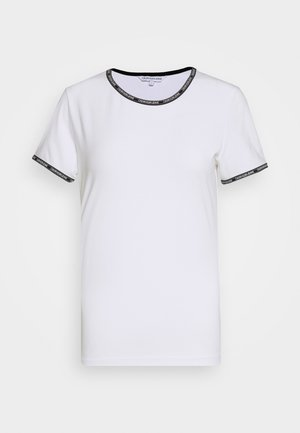 LOGO TRIM - Print T-shirt - bright white