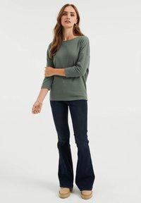 WE Fashion - MET OPENGEWERKT DESSIN - Jumper - sea green - 1