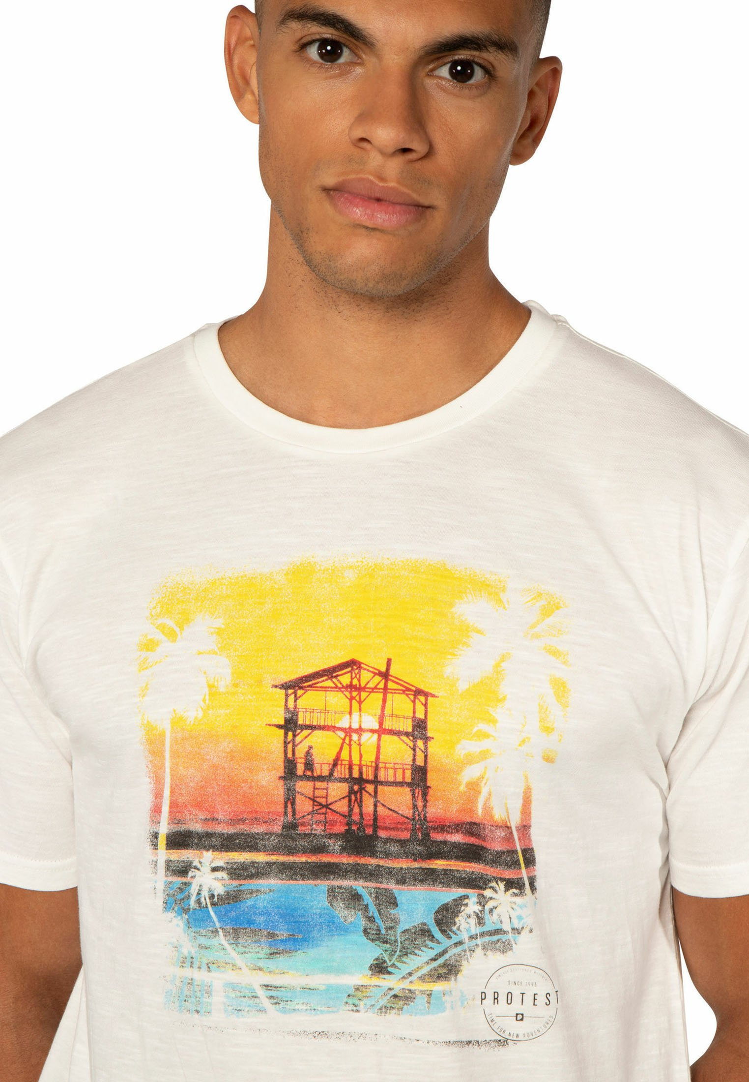Protest STANTON T shirt print off whiteyellow Zalando.nl