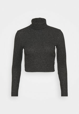 Strikkegenser - mottled dark grey