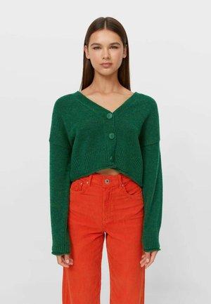 Cardigan - mottled green