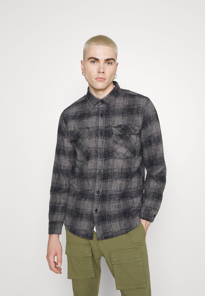 Brixton - BOWERY RESERVE - Shirt - black/grey mix