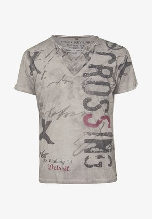 HIGHWAY BUTTON - T-shirts med print - silver