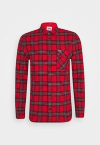 Tommy Jeans - PLAID - Skjorta - deep crimson/multi