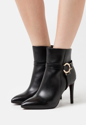BOOTS - High heeled ankle boots - black