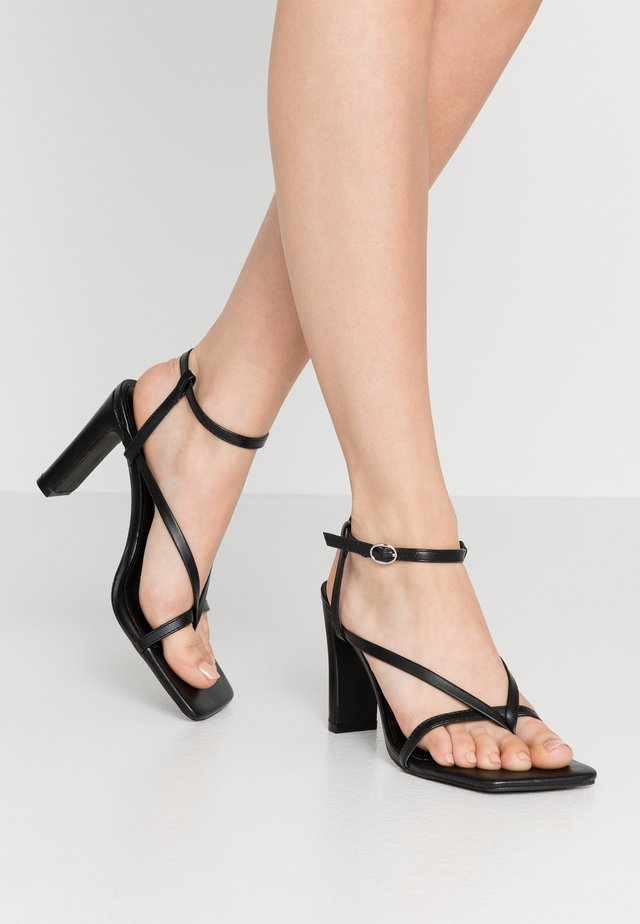 MURPHY - High heeled sandals - black
