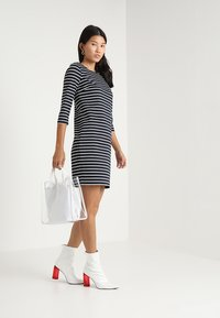 Vila - VITINNY - Day dress - dark blue/off-white