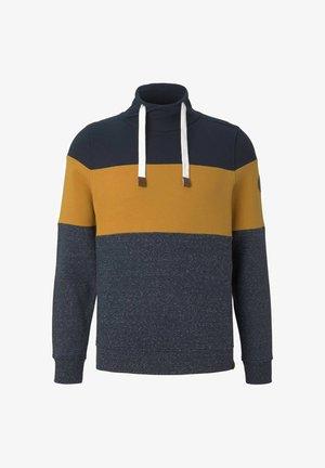 Sweatshirt - dark blue, mustard yellow