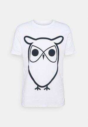ALDER BASIC OWL TEE  - Print T-shirt - bright white