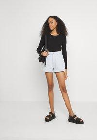 ONLY - ONLNELLA O NECK - Long sleeved top - black - 1