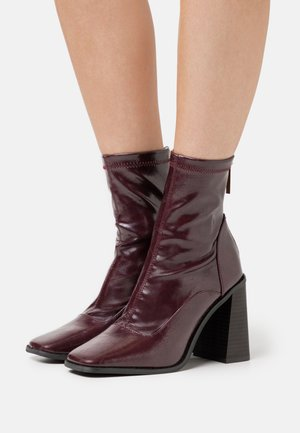 Bottines - dark red