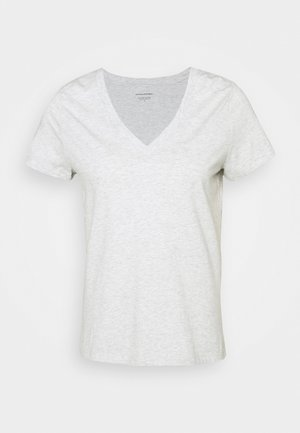 NEW SUPIMA VEE - Basic T-shirt - grey