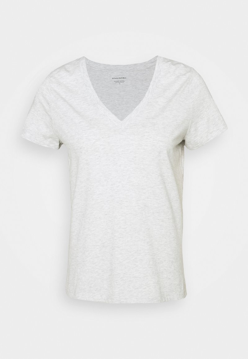 Banana Republic - NEW SUPIMA VEE - Basic T-shirt - grey