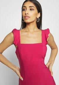 NA-KD - PAMELA REIF X NA-KD FRILL DETAIL MINI DRESS - Day dress - rosewood - 3