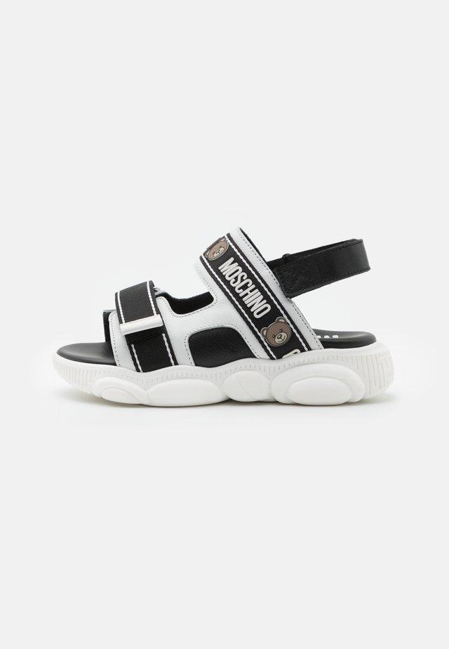UNISEX - Sandaalit nilkkaremmillä - white/black